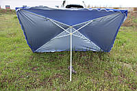 Зонт уличный торговый размером 2х3 метра с серебристым анти УФ напылением