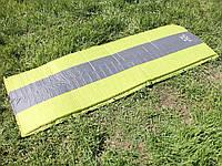 Туристический надувной одноместный матрас с ПВХ-покрытием 195 х 65 х 5 см.