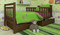 Детская деревянная кровать (из ольхи) Анет Люкс с бортиками (все размеры)