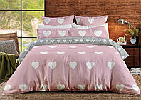 764 Постельное белье Ranforce PINK LOVE HEARTS(двуспальный)
