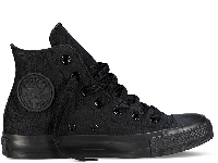 Кеды высокие Converse All Star Black Monochrome High р.37 стелька 23.5 см  (con_025)