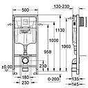 Інсталяція для унітазу Grohe Rapid SL 3в1 38722001, фото 2