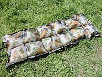 Туристический камуфляжный надувной матрас размерами 195х65х10 см