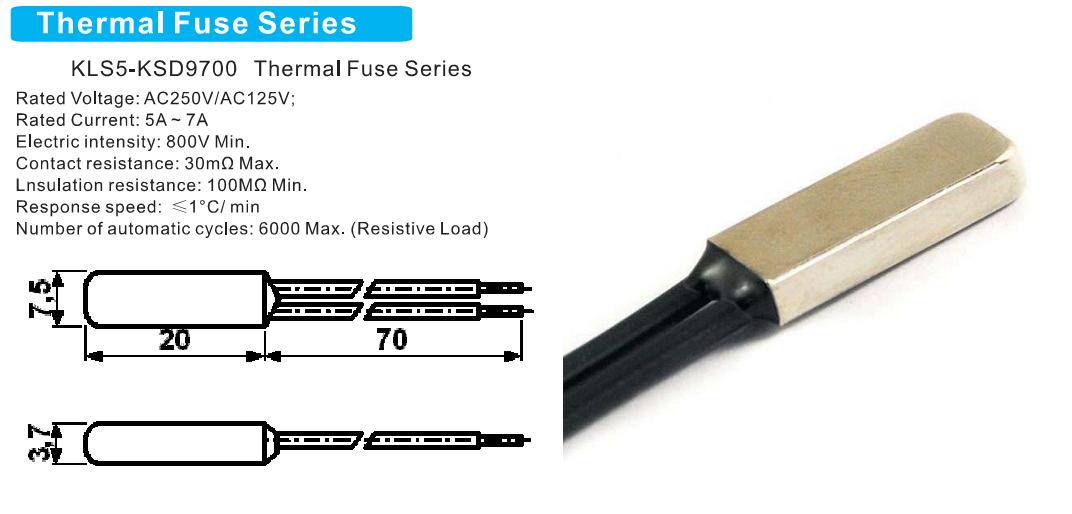 Термостат KSD9700-5A140-B (норм. замкн.)