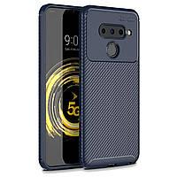 Чехол Carbon Case LG V50 ThinQ Синий