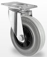 Колесо поворотное с роликовым подшипником 100 мм, полипропилен/серая резина (Германия)
