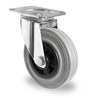 Колесо поворотное с роликовым подшипником 125 мм, полипропилен/серая резина (Германия)