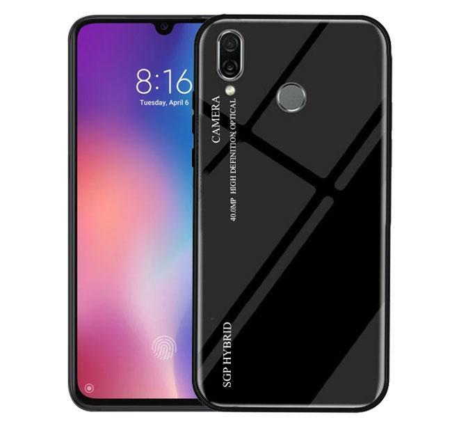 Чехол бампер Primo Gradient Glass для Huawei P Smart 2019 / Honor 10 Lite - Black