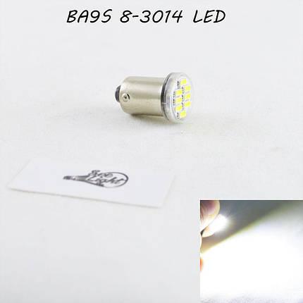 Светодиодная автомобильная лампа SL LED цоколь BA9S(7004-14) 8-3014 LED  Белый, фото 2