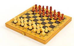 Шахматы деревянные бамбуковые, шашки, нарды 3 в 1 (фигуры - дерево, р-р доски 35 x 35 см)