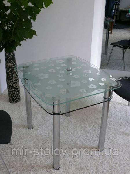 Обеденный стол Maxi Dt dx 900/800 (2) матовый с рисунком - Мир столов в Киеве
