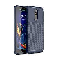Чехол Carbon Case LG K40 Синий