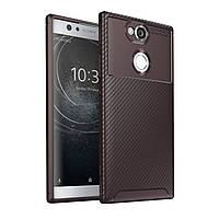 Чехол Carbon Case Sony Xperia XA2 Коричневый