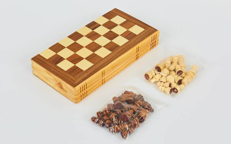 Шахматы настольная игра деревянные (р-р доски 30см x 30см)