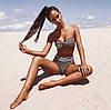 Жіночий роздільний купальник з люрексу. СП-9-0519, фото 2
