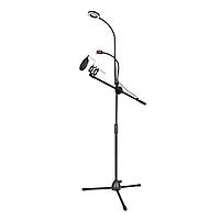 Универсальная стойка с кольцевой лампой, держателем для телефона и микрофона для live стриминга