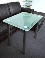 Обеденный стол Maxi Dt r 800/650 (1) матовый с рисунком