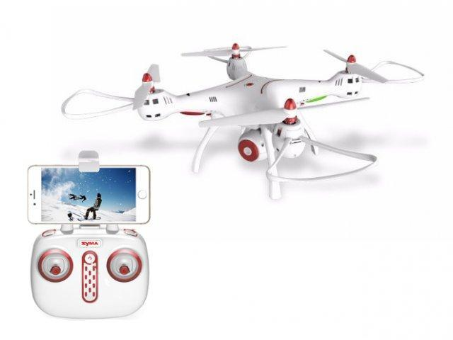 Квадрокоптер дрон Syma X8SW c WIFI камерой (Белый)