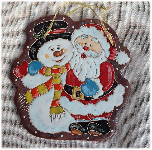 """Пласт """"Дед Мороз и снеговик"""""""