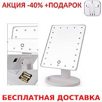 22 LED Large LED Mirror Glossy case Косметическое настольное зеркало для макияжа+Наушники, фото 1
