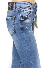 Жіночі рвані завужені джинси , фото 3