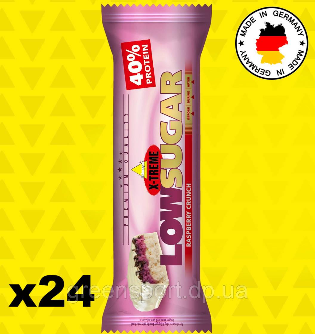 Протеиновые батончики Inkospor X-Treme Low Sugar Малина 24x65 г