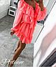 Платье с рюшами, ткань:шифон на подкладке. Размер:  42-46. Разные цвета (6565), фото 3