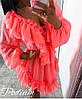 Платье с рюшами, ткань:шифон на подкладке. Размер:  42-46. Разные цвета (6565), фото 4
