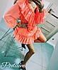 Платье с рюшами, ткань:шифон на подкладке. Размер:  42-46. Разные цвета (6565), фото 5