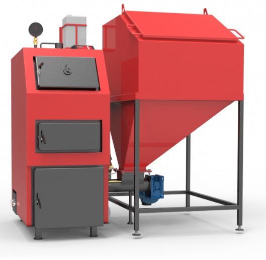 Пеллетный котёл с автоматизированной подачей топлива  РЕТРА 4-М (RETRA 4-М 80 кВт)