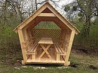 Беседка деревянная 3-х секционная