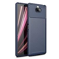 Чехол Carbon Case Sony Xperia 10 Синий