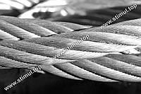 Трос оцинкованный 3 мм (моток 100 метров)  плетение 6х7 DIN 3055 / Канат стальной