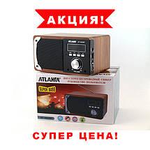 Портативная Bluetooth колонка акустическая Atlanfa AT-1822ВТ, FM, 6W + USB и функцией Power Bank, фото 2