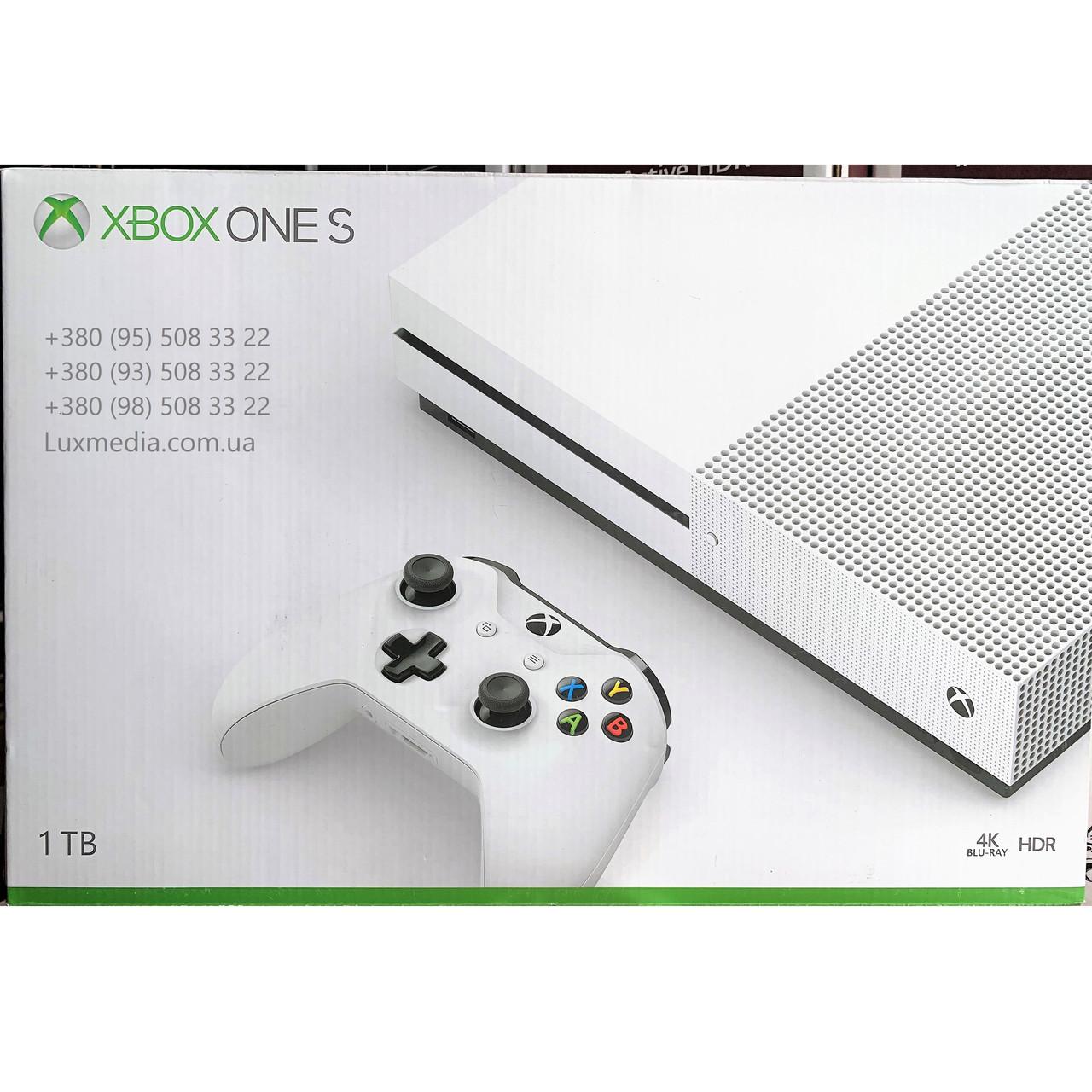 Игровая приставка Microsoft XBOX 360 ONE S 1TB (UltraHD 4K, Blu-Ray, HDR)
