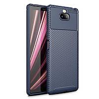 Чехол Carbon Case Sony Xperia 10 Plus Синий