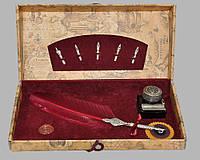 Письменный набор Dallaiti бордовый Bx03