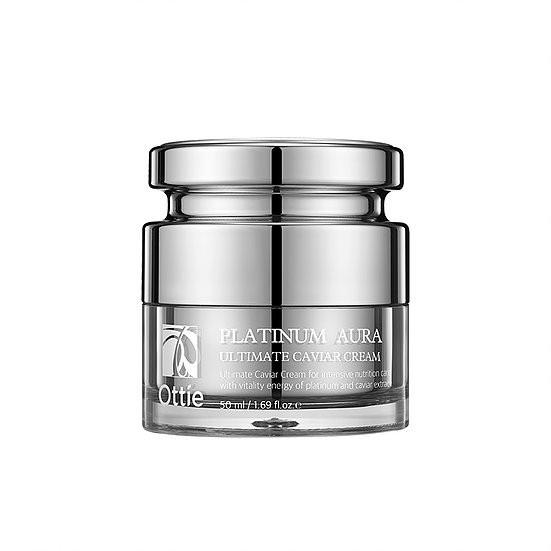 Премиум-крем с черной икрой и платиной Ottie Platinum Aura Ultimate Caviar Cream