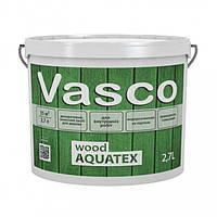 Vasco wood AQUATEX декоративная пропитка для дерева 2,7л. Прозрачная, белая, в цвете.