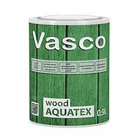 Vasco wood AQUATEX декоративная пропитка для дерева 0,9л. Прозрачная, белая, в цвете.