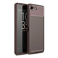 Чехол Carbon Case Sony Xperia XZ4 Compact Коричневый
