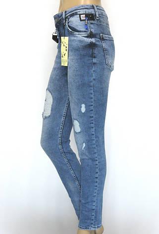 Жіночі рвані завужені джинси , фото 2