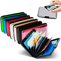 Бумажник для кредитных карт, непромокаемый кошелек Aluma Wallet Алюма Уолет РОЗОВЫЙ цвет, фото 1