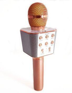 Микрофон-Караоке Bluetooth Wster WS-1688 Розово-золотой