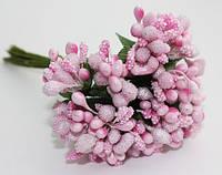 """Добавка """"сложные тычинки"""" 144 шт/уп. оптом розового цвета"""