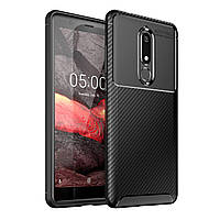 Чехол Carbon Case Nokia 5.1 Черный