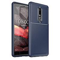Чехол Carbon Case Nokia 5.1 Синий