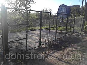 Ворота распашные гармошка 7 м., фото 2