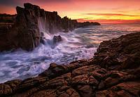 Фотообои 3D природа (плотная бумага, флизелин) 368х254 см Море и скалы (5085WG)