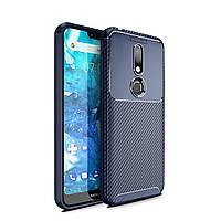 Чохол Carbon Case Nokia 7.1 Синій